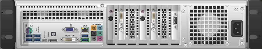 VGADVI Recorder Pro - Задняя панель